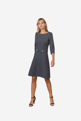 Erstklassiges Designerkleid, hergestellt in Deutschland, aus höchster Qualität. Einzigartiges Design von SANOGE.
