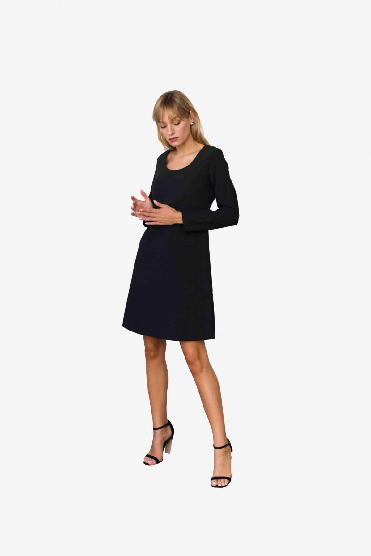 Kleid Cecilia - schwarzes Etuikleid. Pflegeleicht. Knitterarm. Easy Care. Das perfekte Business Outfit.