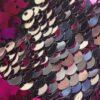 Stylische Mund-Nase-Maske Gesichtsmaske von SANOGE mit pinken und silbernen Glitzer Pailletten. Hergestellt in Deutschland.